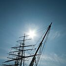 Masts and Prow of the Cutty Sark by Karen Martin IPA
