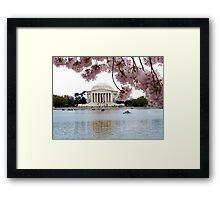 Blossoms Over Jefferson Framed Print