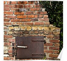 Historic outdoor brick stove Poster