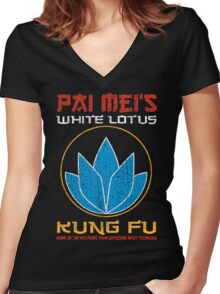 Your so-called kung-fu is really quite pathetic Women's Fitted V-Neck T-Shirt