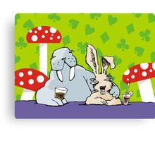 Happy hour in the Wonderland pub Canvas Print