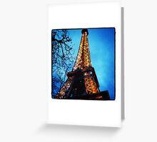 Brightest Eiffel Tower Greeting Card
