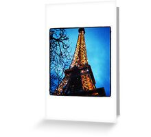 Brightest Eiffel Tower Greeting Card