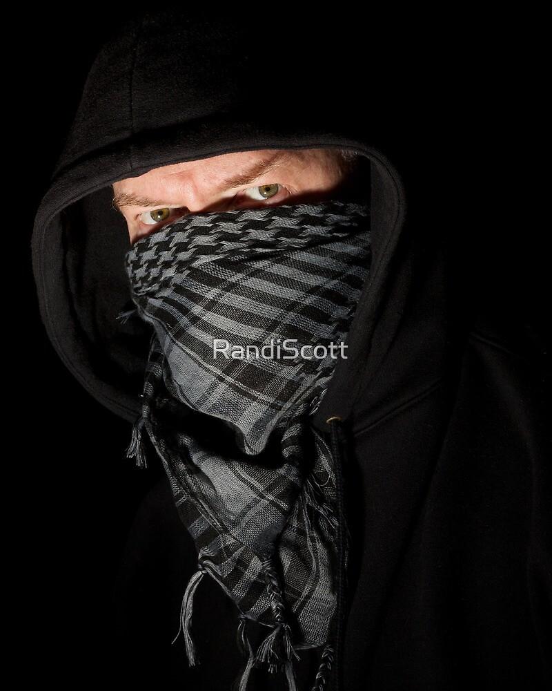 Robber portrait on black by RandiScott