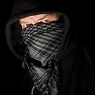Robber portrait on black by RandiScott