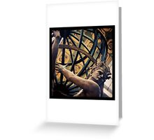 Atlas holding the World Greeting Card