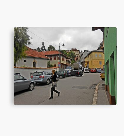 A streetscape Canvas Print