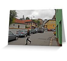 A streetscape Greeting Card