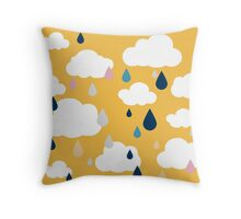 Golden Rainy Days Throw Pillow