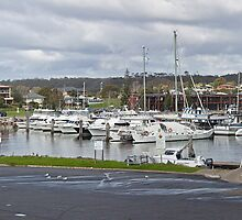 Bermagui boats at rest by Roger Neal