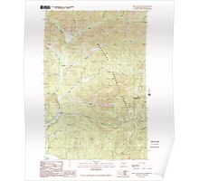 USGS Topo Map Washington State WA Red Top Mountain 243399 1989 24000 Poster