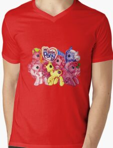Vintage My Little Pony Mens V-Neck T-Shirt