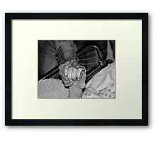 saying goodbye.... Framed Print