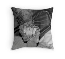 saying goodbye.... Throw Pillow