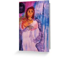 Mother and child, watercolor Greeting Card