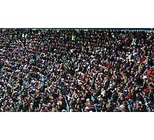 fans at the stadium  Photographic Print