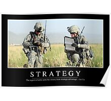 Strategy: Inspirational Quote and Motivational Poster Poster