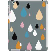 Playing in the grey rain iPad Case/Skin