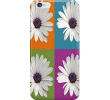 White African Daisy Collage On Bright Background iPhone Case/Skin