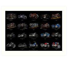 Classic Motorcycles Art Print