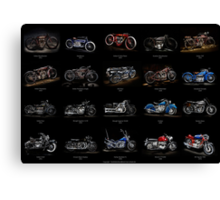 Classic Motorcycles Canvas Print