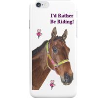Cute Equestrian Horse iPhone or iPod cases iPhone Case/Skin