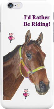 Cute Equestrian Horse iPhone or iPod cases by Patricia Barmatz