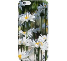 A Garden of White Daisy Flowers iPhone Case/Skin