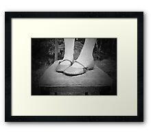 Sweet Mary-Janes.... Framed Print
