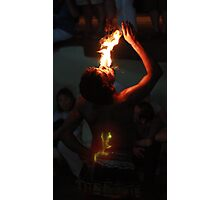 Fire breather - Kandy, Sri Lanka Photographic Print