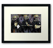 Hear No Evil, See No Evil, Speak No Evil (Zombie Version) Framed Print