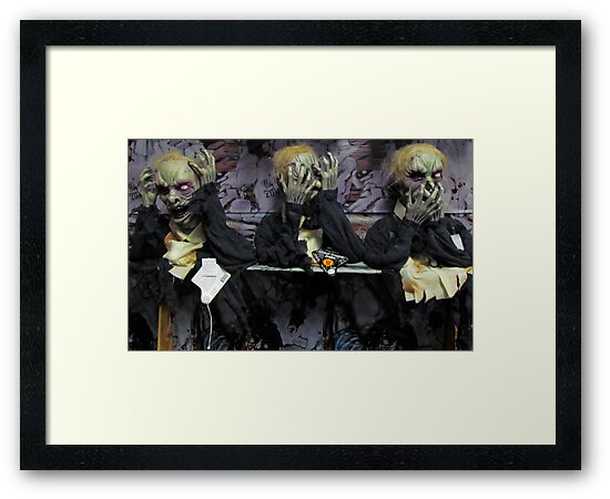 Hear No Evil, See No Evil, Speak No Evil (Zombie Version) by Nevermind the Camera Photography