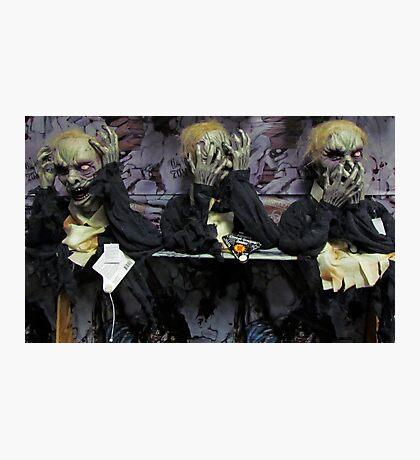 Hear No Evil, See No Evil, Speak No Evil (Zombie Version) Photographic Print