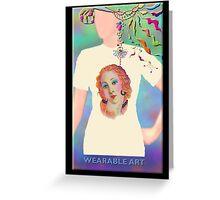 I Feel Pretty, Wearable Art Greeting Card