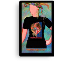 Lady Australia, Wearable Art,Greeting Card or Small Print Canvas Print