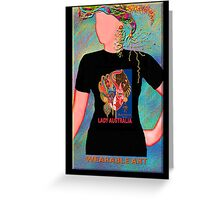 Lady Australia, Wearable Art,Greeting Card or Small Print Greeting Card