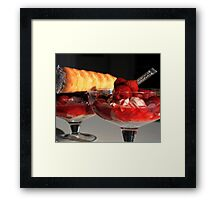 strawberry dessert Framed Print