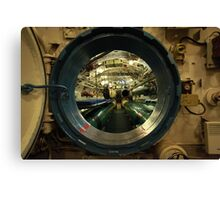 aboard submarine  Canvas Print