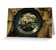 aboard submarine  Greeting Card