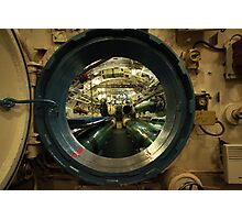 aboard submarine  Photographic Print