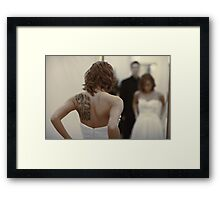 bride in the mirror Framed Print