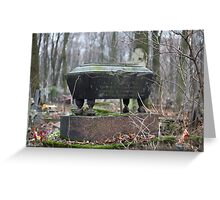 old coffin Greeting Card