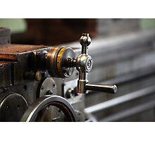 turning lathe Photographic Print