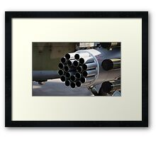 helicopter gun Framed Print