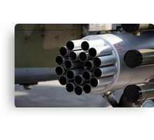 helicopter gun Canvas Print