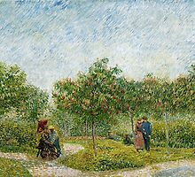 Vincent Van Gogh - Garden in Montmartre with Lovers by lifetree