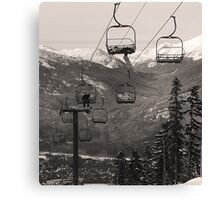 A Very Relaxed Chairlift Canvas Print