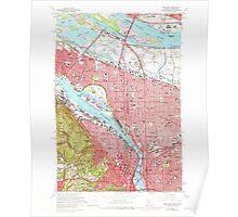 USGS Topo Map Oregon OR Portland 281133 1961 24000 Poster
