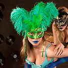 No identity, just feelings, bright carnival masks.. by Anton Oparin