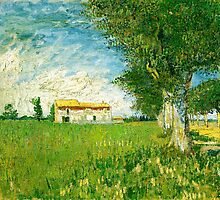 Vincent Van Gogh - Farmhouse in a Cornfield by lifetree